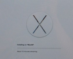 </p>   <p> Установка Mac OS X </p>   <p> Yosemite